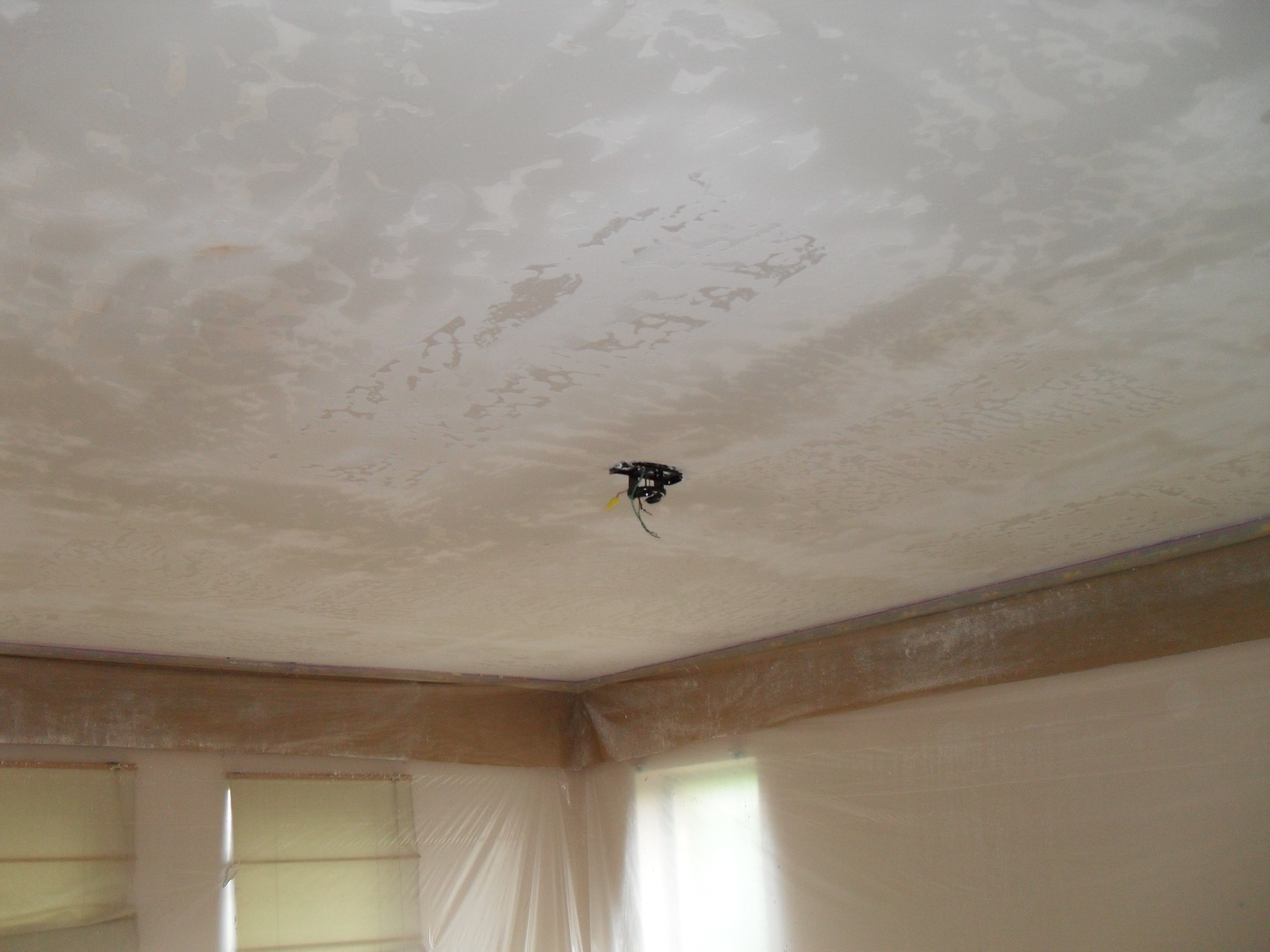 ones removal scraped painted scoop ceilings on including diy popcorn the ceiling img removing real